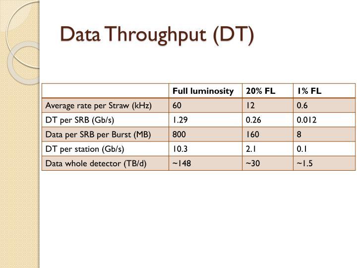 Data Throughput (DT)