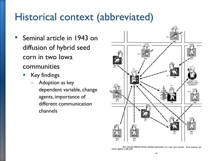 Historical context (abbreviated)