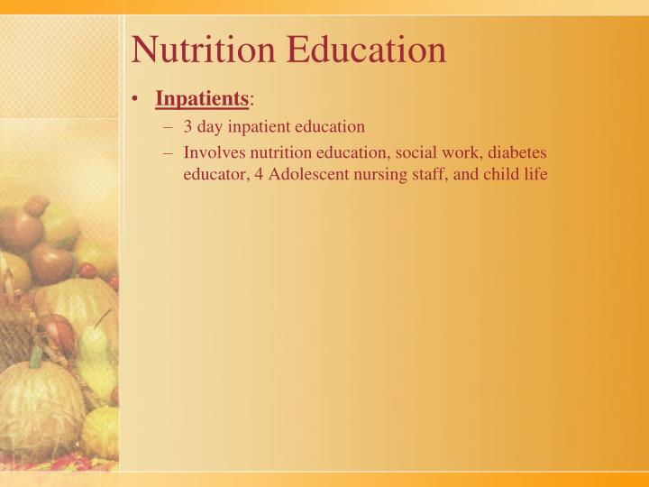 thesis nutrition education Nutrition education: is an instructional process of teaching, training or educating students, clients or/and patients to understand and absorb information to help them willingly be able to make good food choices to be healthy or improve their wellbeing.