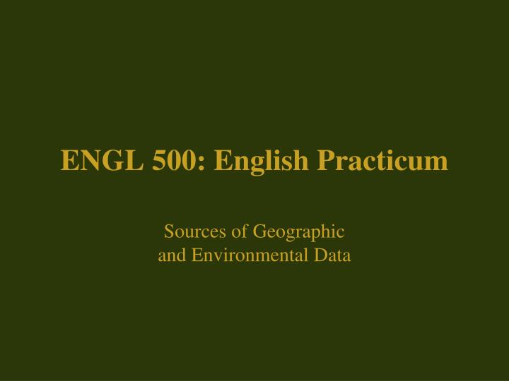 engl 500 english practicum n.