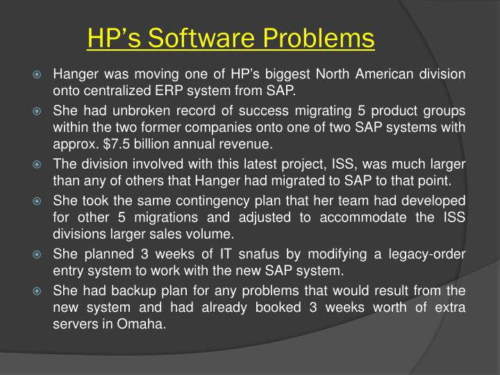 HP's Software Problems
