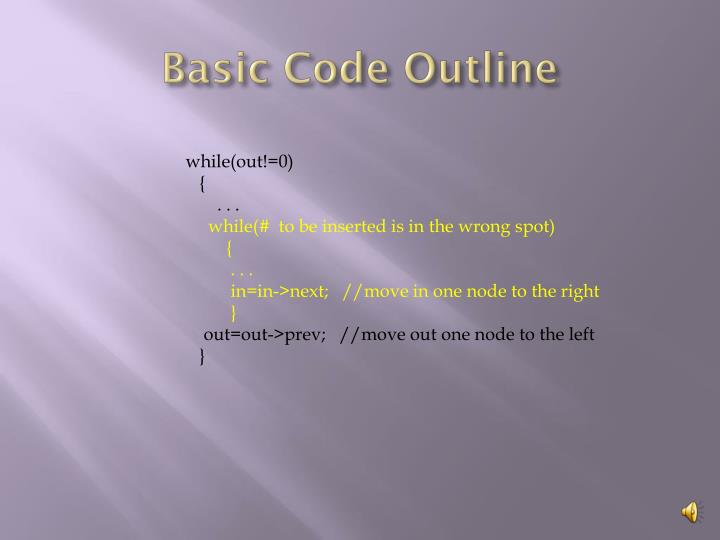 Basic Code Outline