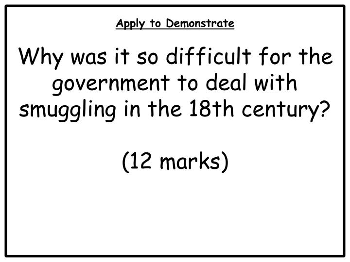 Apply to Demonstrate