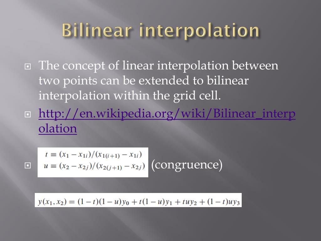 Bilinear Interpolation Python