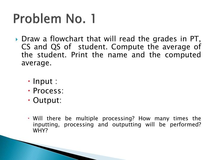 Problem No. 1