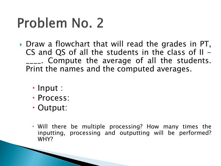 Problem No. 2