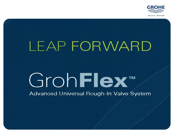 grohflex advanced universal rough in valve system n.