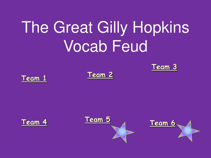 the great gilly hopkins vocab feud n.