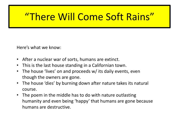 ppt \u201cthere will come soft rains\u201d powerpoint presentation id 1967354