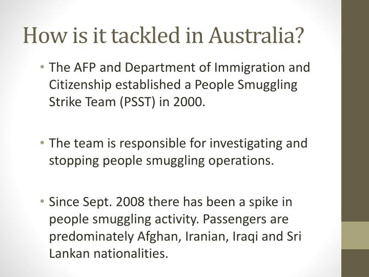 How is it tackled in Australia?