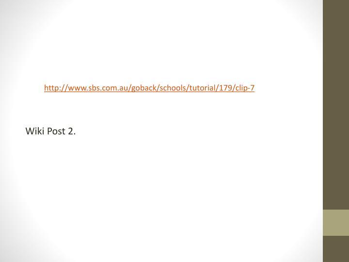 Wiki Post 2.