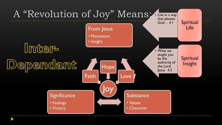 A revolution of joy means1