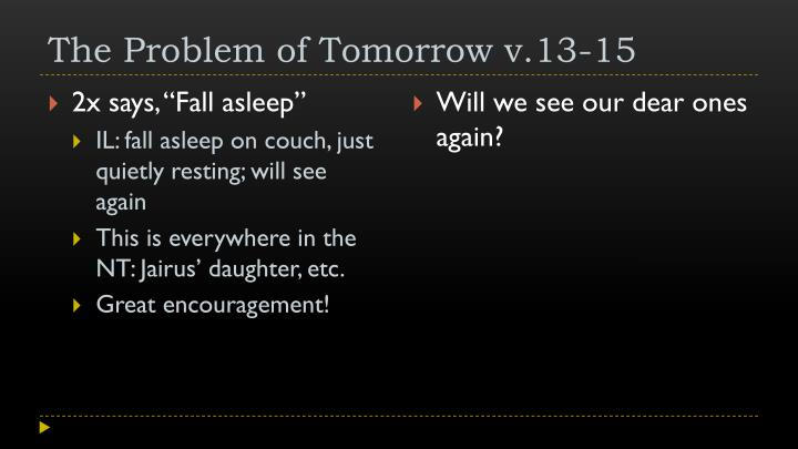 The Problem of Tomorrow v.13-15