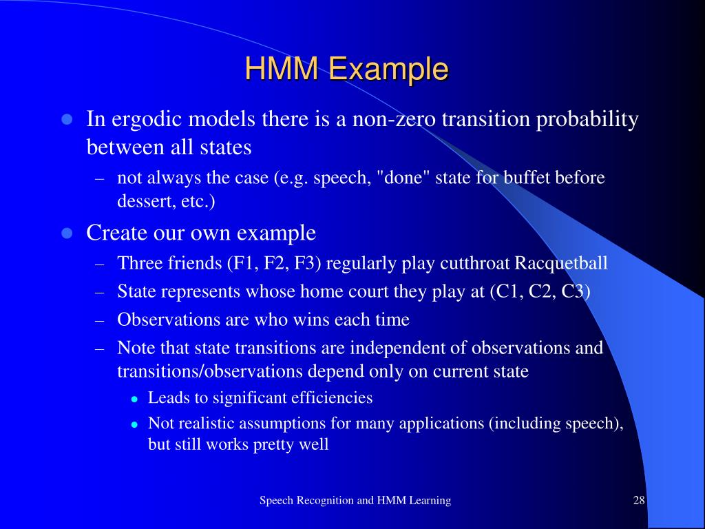 PPT - Speech Recognition and HMM Learning PowerPoint Presentation