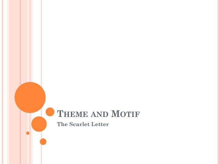 theme and motif n.
