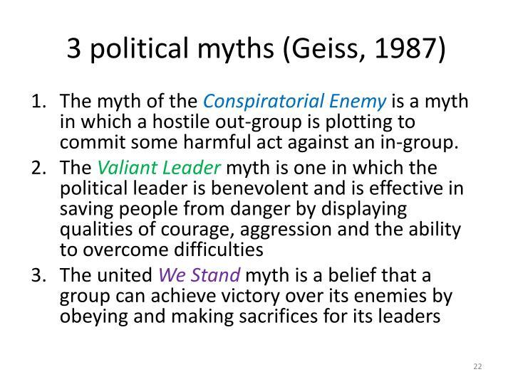 3 political myths (