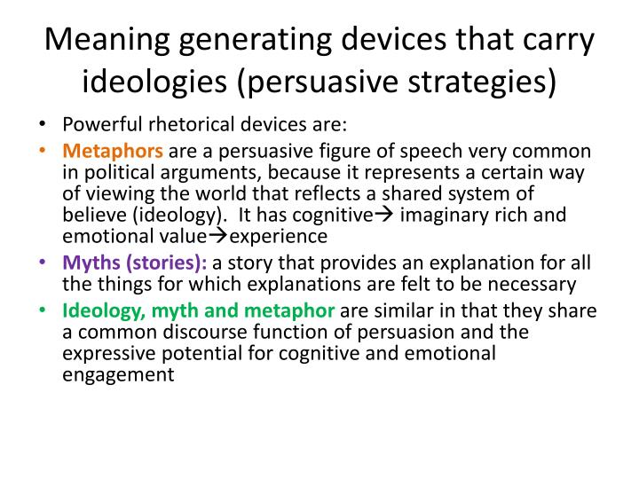 Meaning generating