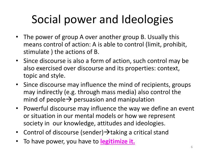 Social power and Ideologies