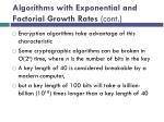 algorithms with exponential and factorial growth rates cont