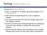 testing orderedlist