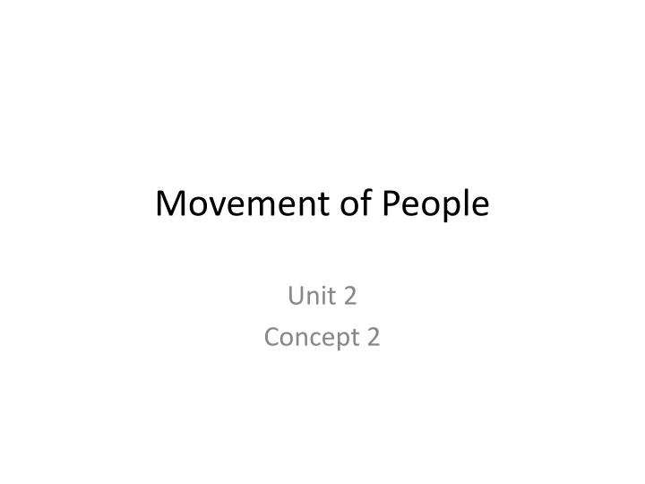 movement of people n.