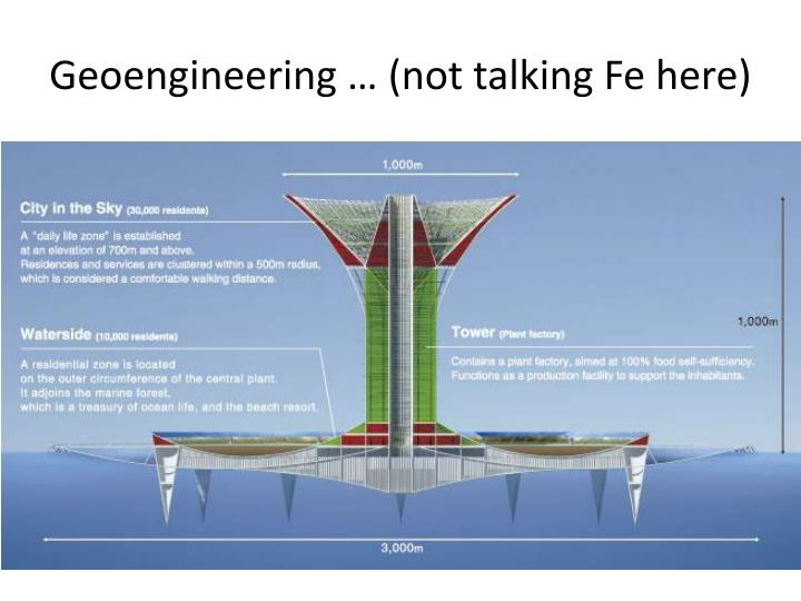 Geoengineering … (not talking Fe here)