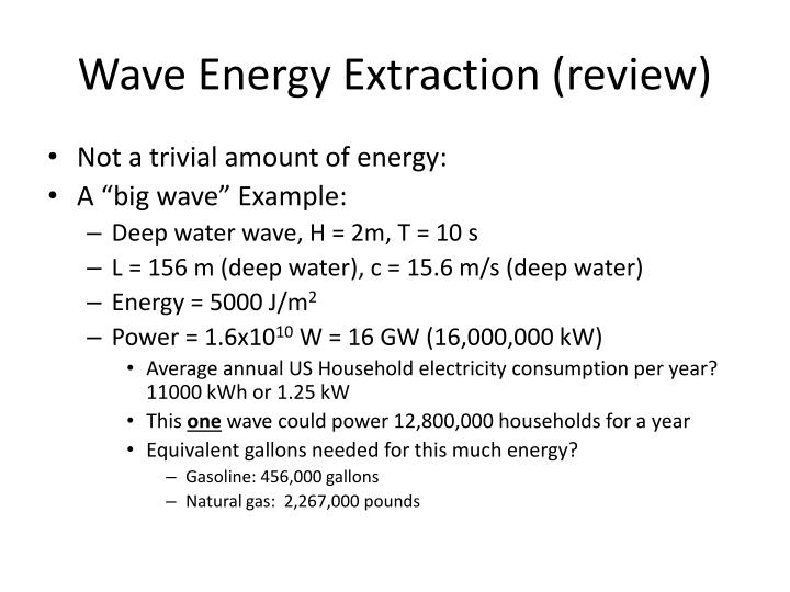 Wave Energy Extraction (review)