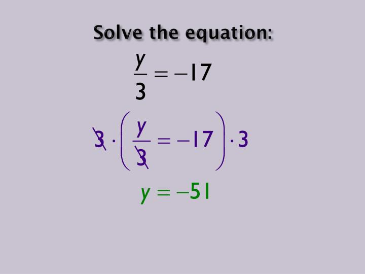 Solve the equation: