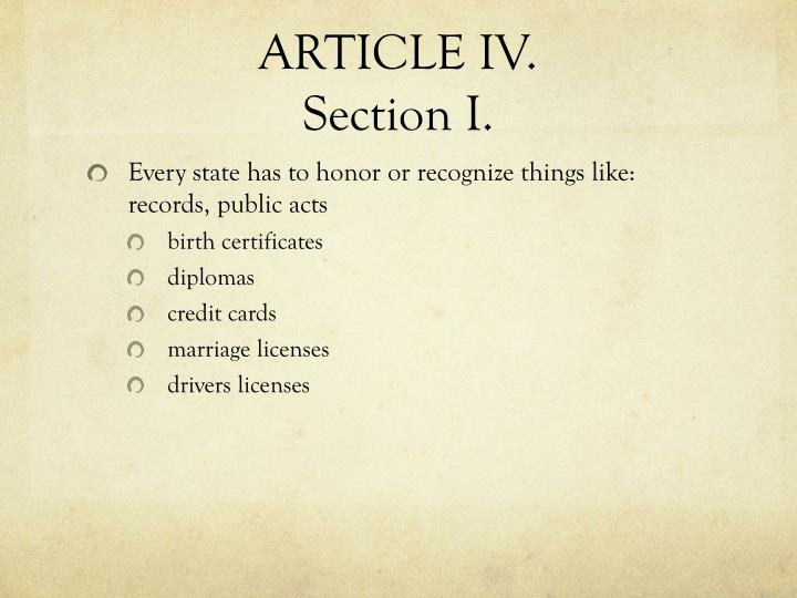 ARTICLE IV.