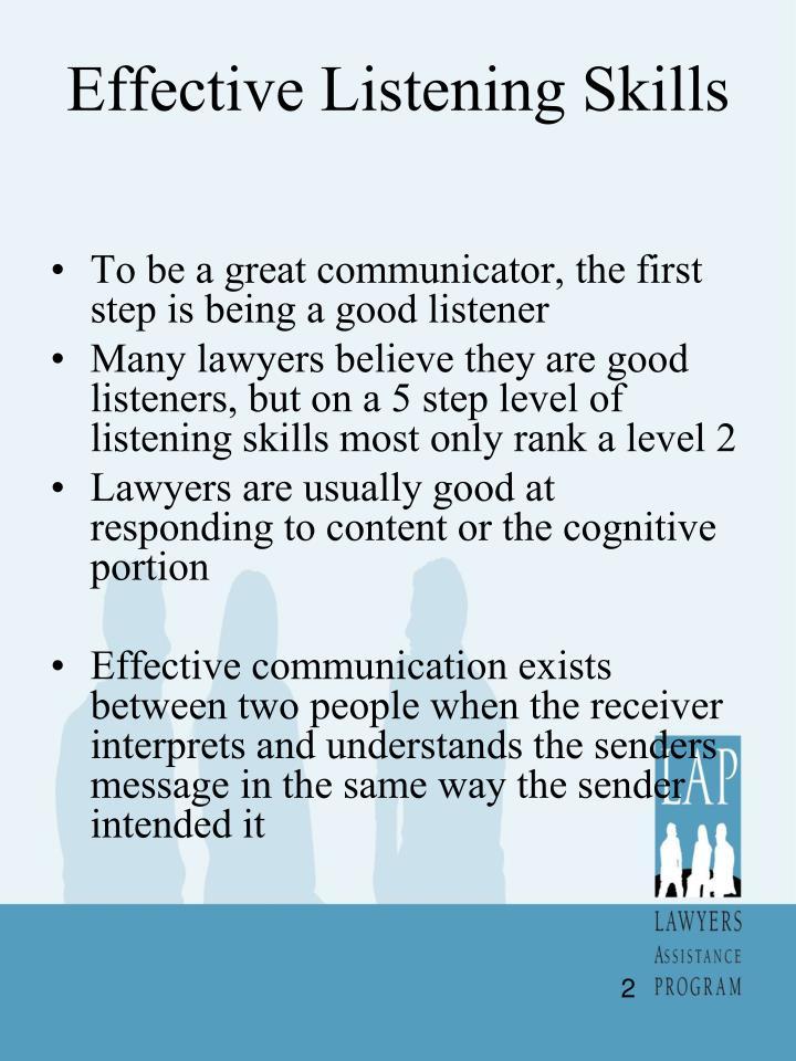 PPT - Advanced Communication Listening Skills PowerPoint ...