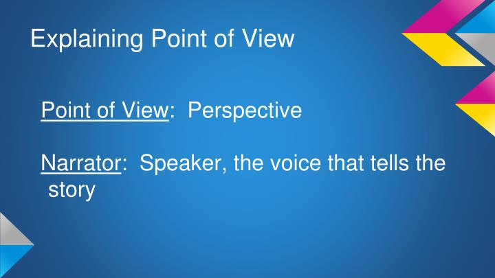 Explaining Point of View