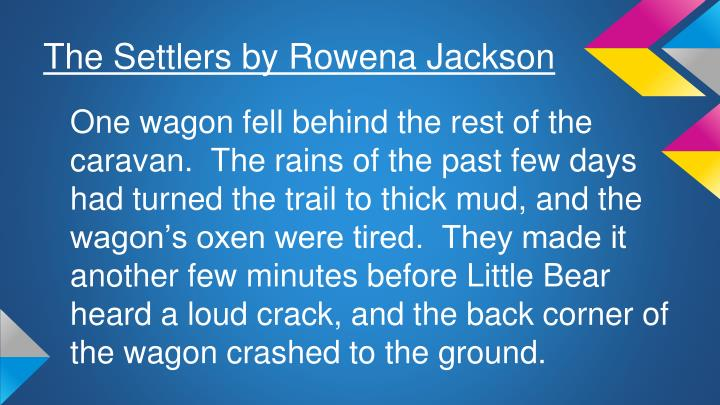 The Settlers by Rowena Jackson