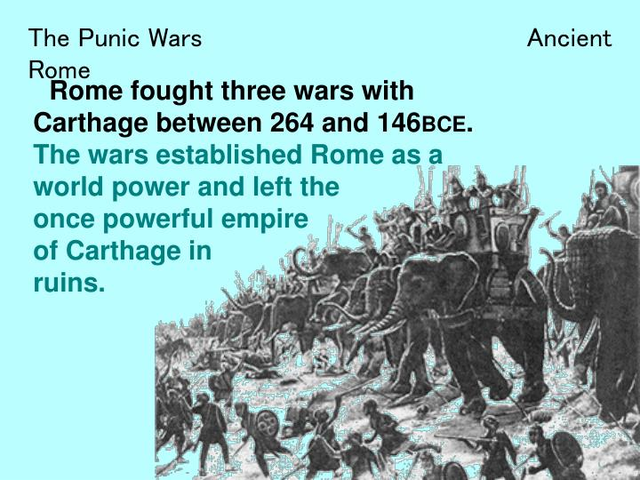 an introduction to the rome and the first punic war with carthage