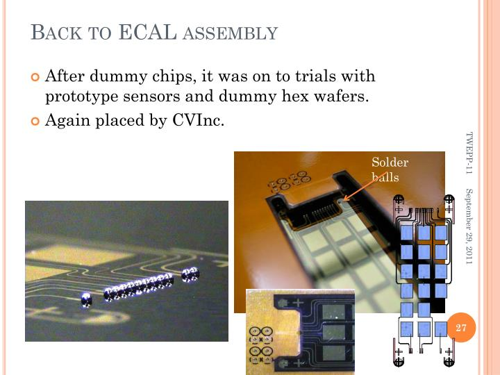 Back to ECAL assembly