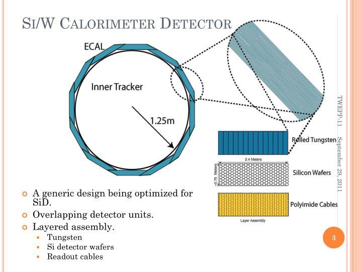 Si w calorimeter detector