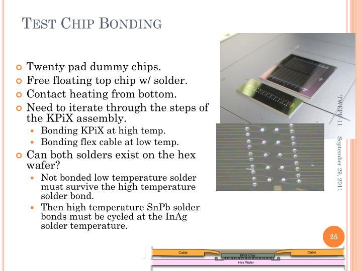 Test Chip Bonding