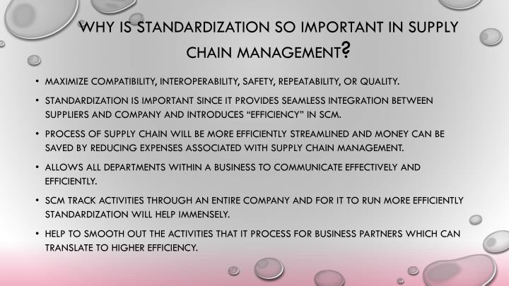 standardazaion in supply chain New suite of iso supply chain management standards to reduce risks of terrorism, piracy and fraud keep up to date with iso sign up to our newsletter for the latest.