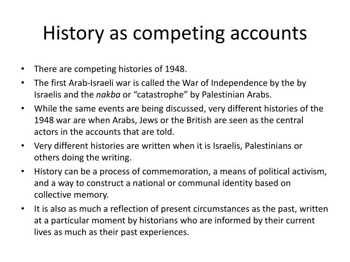 History as competing accounts