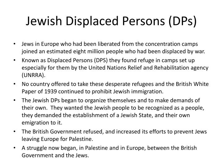 Jewish Displaced Persons (DPs)