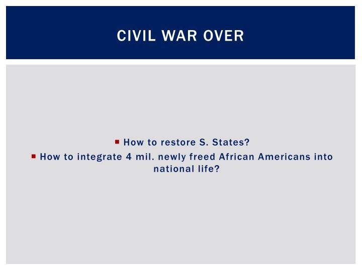 Civil War Over