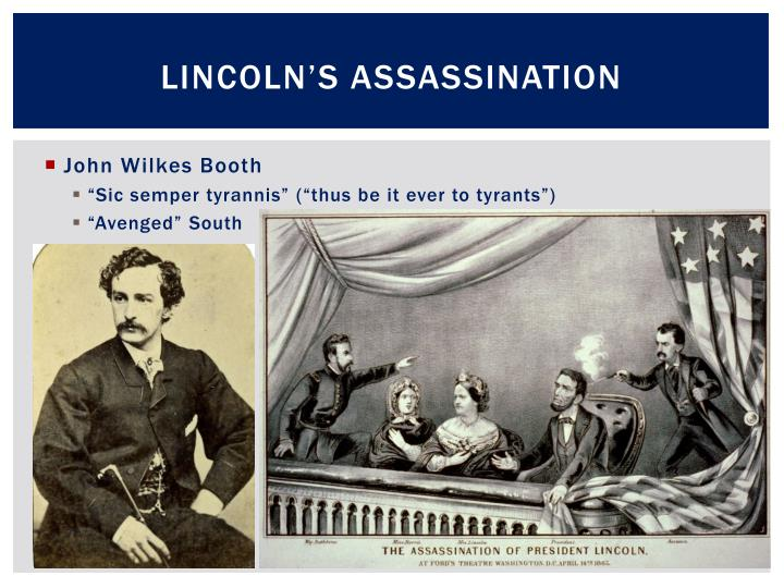 Lincoln s assassination