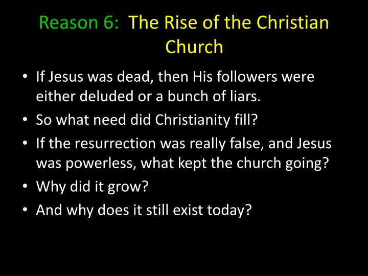 Reason 6:
