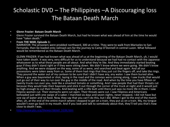 Scholastic DVD – The Philippines –A Discouraging loss