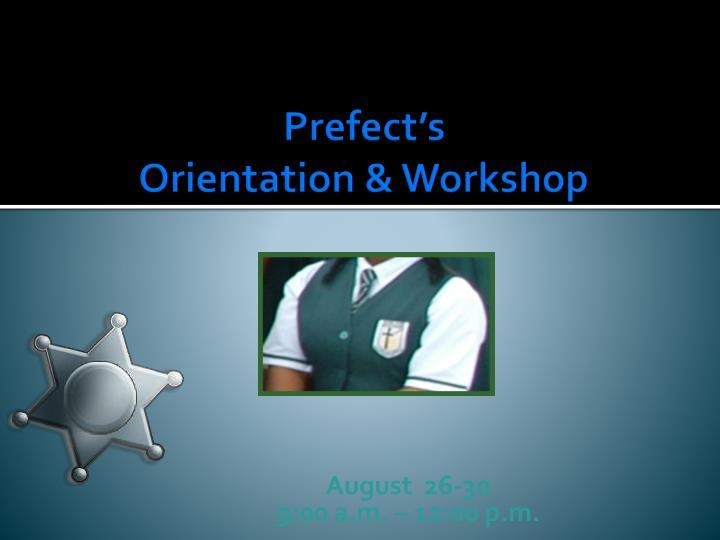 Prefect's