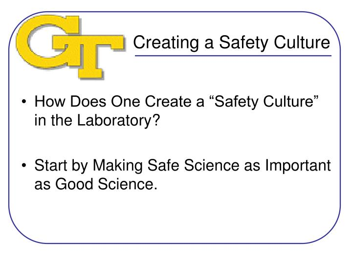 creating a safety culture n.