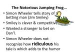the notorious jumping frog