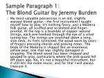 sample paragraph 1 the blond guitar by jeremy burden
