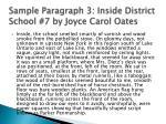 sample paragraph 3 inside district school 7 by joyce carol oates