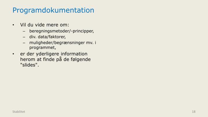Programdokumentation
