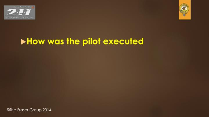 How was the pilot executed